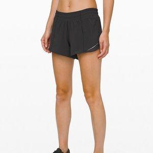 Black Lululemon Hotty Hot Shorts
